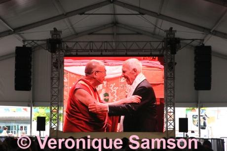le Dalai Lama et Stephane Hessel