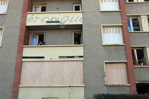 facade de l'appartement occupe par Mohamed Merah
